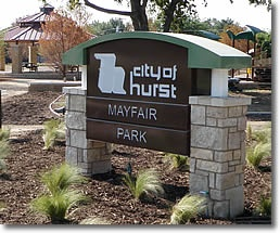 Mayfair Park sign