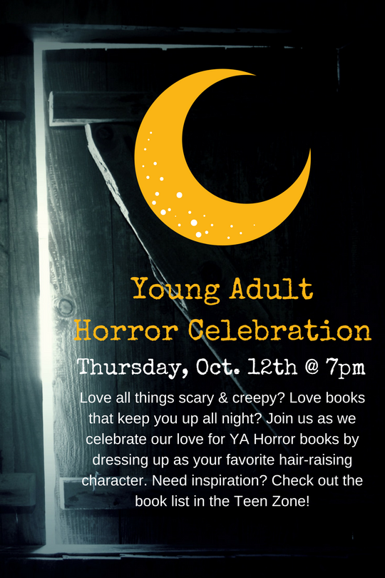 10-12 - Young Adult Horror Celebration - Online Calendar