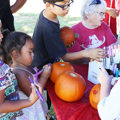 Fall Festival pumpkin decorating