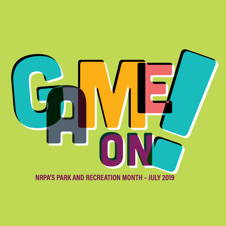 2019 National Parks and Recreation month promotional image #gameonhurst