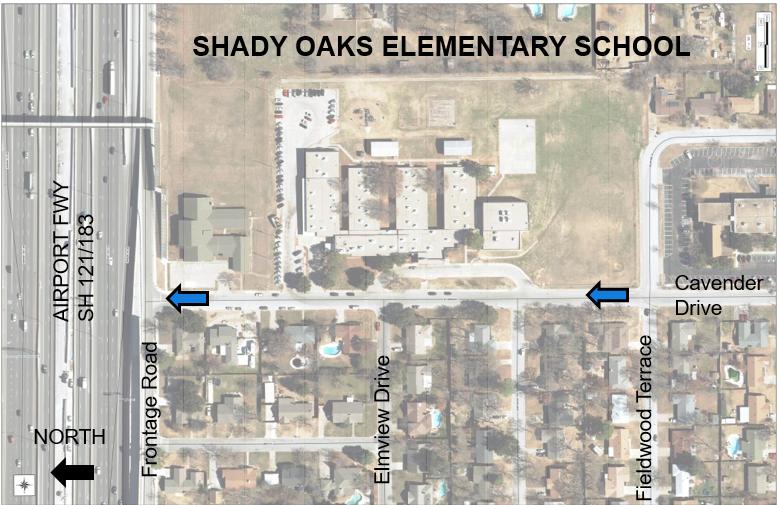 Shady Oaks one way school map