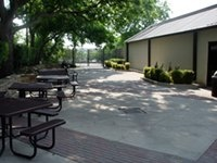 Brookside patio