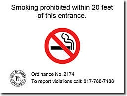 No Smoking Sign - Facilities