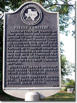 Parker Cemetery marker 1968