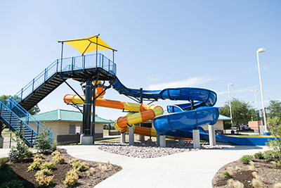 City of Hurst Central Aquatics center new slide