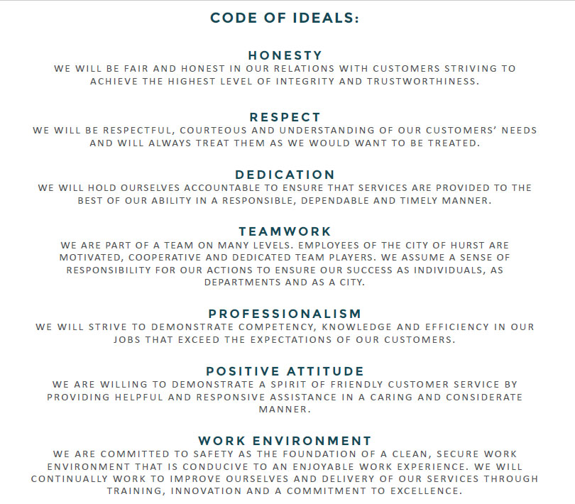 City of Hurst Code of Ideals image
