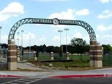 Softball complex arch