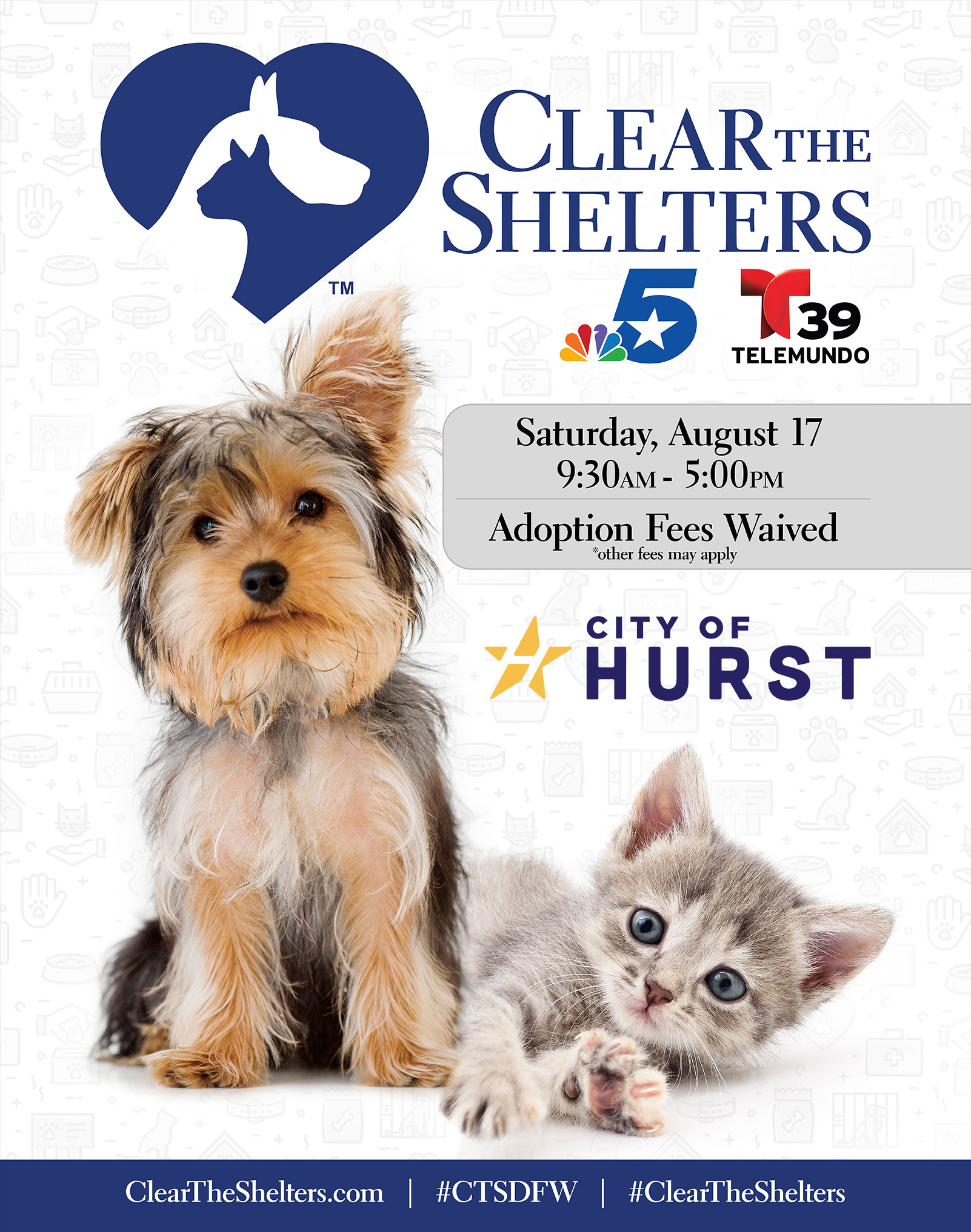 Clear the Shelters 2019 City of Hurst image